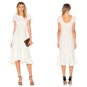 Amanda Uprichard | Evalina Midi Flounce Dress